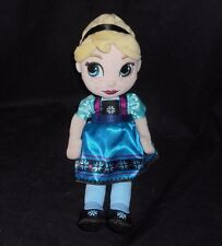 DISNEY FROZEN ELSA PRINCESS ANIMATORS COLLECTION TODDLER DOLL STUFFED PLUSH