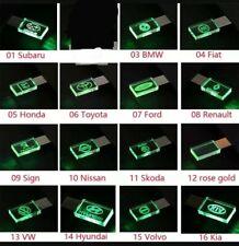 Chiavetta Usb 16-32-64Gb Cristallo luce LED logo Auto