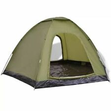 vidaXL 6-Person Tent Green Outdoor Camping Hiking Sun Shelter Family Trip