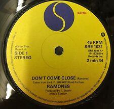 """Los Ramones no se acercan 1978 Reino Unido 7"""" Single Vinilo Excelente Estado"""