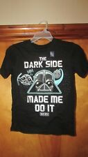 "Gap Kids ""The Dark Side Made Me Do It"" Angry Birds Star Wars Shirt-Large  (G 12)"