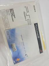 SONY PlayStation 2 PS2 Network Adaptor Online Start-Up Disc V. 4.0 & Instruction