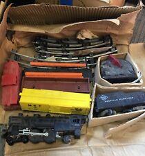 AC Gilbert American Flyer S Gauge Steam Freight Train set 21161,24030,40-3,24636