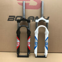 "24"" Mountain Bike Suspension Fork Manual Lockout Mechanical Disc Brake 1-1/8"""