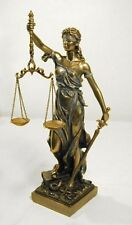 """Blind Lady Justice Statue w/ Scales Sculpture Legal 12.5"""" Tall  *GREAT GIFT"""