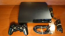 2348 Sony Playstation 3 Slim 160GB Black Console CECH-3004A + accessories PS3