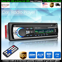 1 DIN Car Radio Stereo 12V FM SD/USB/AUX BT Remote Head Unit MP3 Player