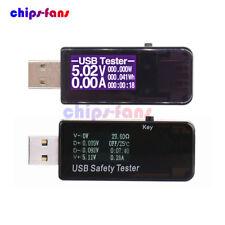 7 in 1 LCD USB rilevatore di tensione Corrente Meter Voltmetro Amperometro Tester Alimentazione