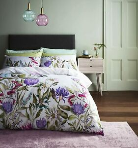 Voyage Maison Fortazela Botanical Duvet Cover Set Violet in 100% Cotton Sateen