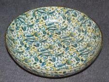 Original Vikings Import Japan Bowl Blue Gold Cream Paper Mache Mid Century