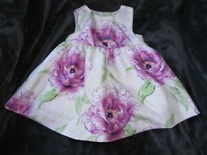 BABY GAP SHABBY PURPLE FLOWER BLOOMS EASTER SPECIAL OCCASION DRESS GIRL 3-6