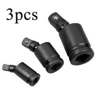 "3pcs 3/8"" 1/2"" 1/4"" Drive Universal Joint Swivel Wobble Socket Impact Adapter"