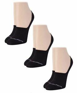 Tommy Hilfiger womens 3-Pairs  Black No Show Socks Sz: One Size; Fits 6-9.5