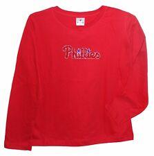 PHILADELPHIA PHILLIES MLB RHINESTONE Long Sleeve Shirt Womens S M L