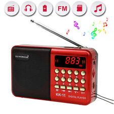 Hot SALE! Portable FM Mini Radio Digital LCD Speaker MP3 Music Player AUX USB TF