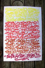 Peinture signée - contemporain graffiti -  tableau canvas street art dessin tag