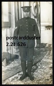 526 - CANADA MILITARY 1910s Soldier. Real Photo Postcard by Fordham, HAMILTON