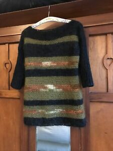 Hand Knitted Mohair Jumper  Approx - M