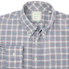 Billy Reid Blue White Red Plaid Button Down Casual Shirt Mens Medium Slim Fit