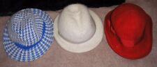 3 X Vintage Sombreros de invierno señoras-cangol, Connor y de Alemania occidental.
