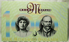 AUSTRALIA...$100.00 TWO NOTE SET... 1984-1996... FIRST AND LAST PREFIX...