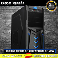 Caja ATX Ordenador Pc Gaming de Sobremesa Torre Devil Azul USB Frontal C/Fuente