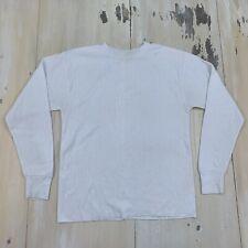Sears Winter Skins: Vtg 70s White Long Underwear Thermal Under Shirt, Mens Small
