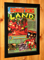 Donkey Kong Land Nintendo Game Boy GameBoy Vintage Small Poster Framed Retro
