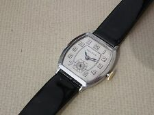 SERVICED LATE 1920`S OR EARLY 1930`S  BULOVA  * Banker * ...SERVICED & .NICE