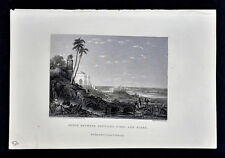 1856 Engraved Print - Ruins at Futipur Sikra India Sikar