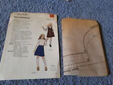 Vintage 1970s Silver Needles sewing pattern No: 38 Girl's schoolwear uncut