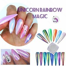 New Aurora Pearl AB Mermaid Unicorn Chrome Rainbow Pigment Powder Gel Nail Dust