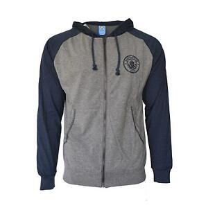 Manchester City Lightweight Full Zip Hoodie Jacket - Grey / Navy Blue