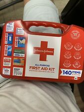 Johnson & Johnson All-Purpose Portable Compact First Aid Kit, 140 Pieces