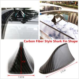 1Pcs Black Carbon Fiber Car Roof Exterior Shark Fin Style ABS Decorative Antenna