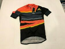 NWT $160.00 Adidas Mens Adistar Aeroready Cycling Jersey Orange/Black Sz MEDIUM