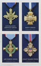 Service Cross Medals block of 4 stamps 2016 USA Air Force Navy Army Coast Guard
