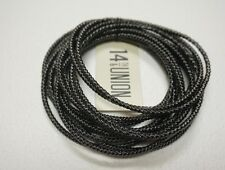 NEW 14TH AND UNION NORDSTROM RACK BLACK MULTI BANGLE STRETCHY CHAIN BRACELET
