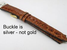 Ladies Morellato Brown Tan 14mm Italian Croco-Grain Silver Buckle Watch Strap