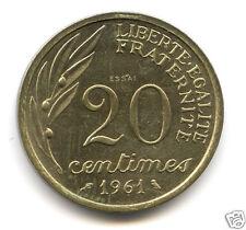 Ve REPUBLIQUE CONCOURS ESSAI DU 20 CENTIMES BARON 1961