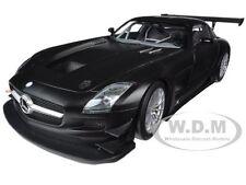 2011 MERCEDES SLS AMG GT3 STREET VERSION MATT BLACK 1/18 BY MINICHAMPS 151113101