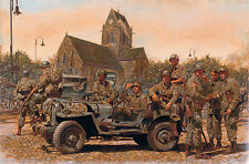 "At the Crossroads"" James Dietz Artist Proof - 82nd Airborne, Sainte-Mère-Église"