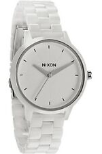Nixon CERAMIC KENSINGTON  #A261-100 White Analog Women's Wristwatch Watch