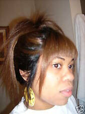 """INSTOCK! 16"""" Bangs Duo Remy Human Hair Full Lace Wig"""