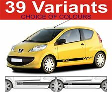 Peugeot 107 Side Stripe Decals Stickers GTI HDi Etc Choice of Design 2 off