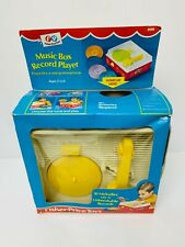 Vintage 1970s Fisher Price Toys Music Box Record Player #995 Rare Boxed