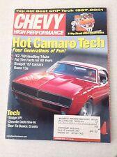 Chevy High Performance Magazine Camaro Tech Fat Tire January 2002 031417NONRH
