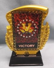 victory hologram trophy award gold resin