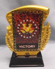 victory hologram trophy award gold resin
