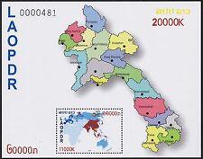 LAOS Bloc** ASEM 2012, Carte, summit in Laos, map, Souvenir Sheet MNH